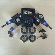 Skateboard Parts ROYAL 5.25″ Skate Trucks Brand mixed 51&52mm skate Wheels & ABEC-7 Bearings & Royal Riser Pads & A Hardware Set