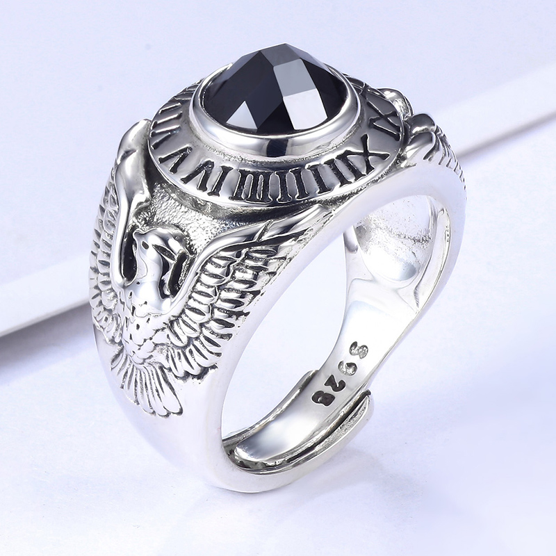 contracted mouth ring gentleman personality in Europe and the Thai silver restoring ancient ways ring adorn articlecontracted mouth ring gentleman personality in Europe and the Thai silver restoring ancient ways ring adorn article