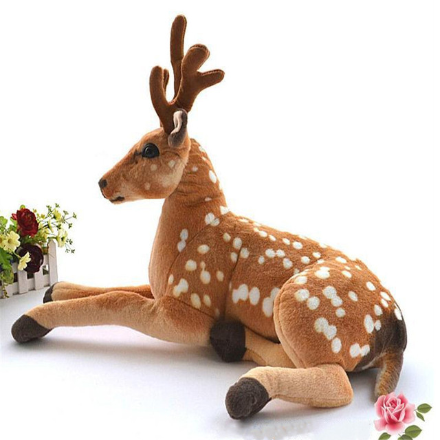 90cm Simulation Stuffed Animals Deer Kawaii Plush Dolls Nordic Style Kids Decoration Kids Toys Toys for Boys Juguetes Brinquedos