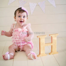 Light Pink Lace Romper - Girls Baby Ruffle Romper Outfit недорого