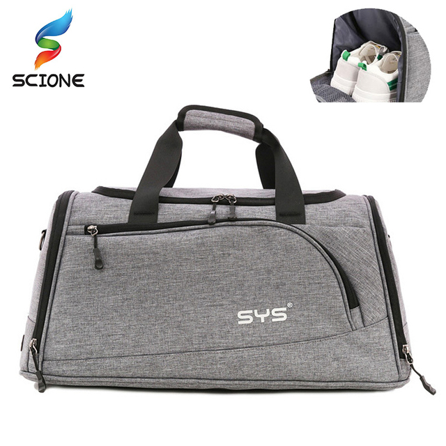69355a537ce7 Hot Sports Gym Bag Men luggage Duffel Bag Training Fitness Shoulder Bag  with Shoes Pocket Waterproof Outdoor Travel Handbag