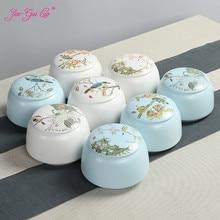 цена на JIA-GUI LUO Ceramic tea box Dried fruit storage cans Sealed bottle Tea Accessories Pu'er  tea storage box  ceramic jar D097