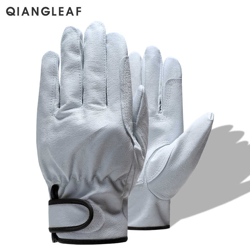 QIANGLEAF Brand Free Shipping Hot Sale Protection Glove D Grade Ultrathin Leather Safety Work Gloves Wholesale