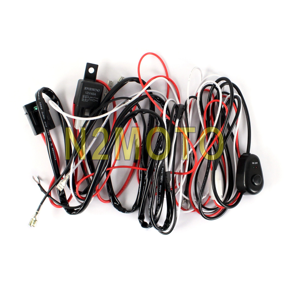 Auto Light Wiring Detailed Schematics Diagram Automobile Fog Car Led Hid Spotlight Wire Harness 12v 40a Relay 2 5m Home Electrical Diagrams
