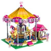 ENLIGHTEN 2016 Girls Friends Amusement Park Princess Fantasy Carousel Building Blocks Brick Compatible LegoIN Playmobil Toys