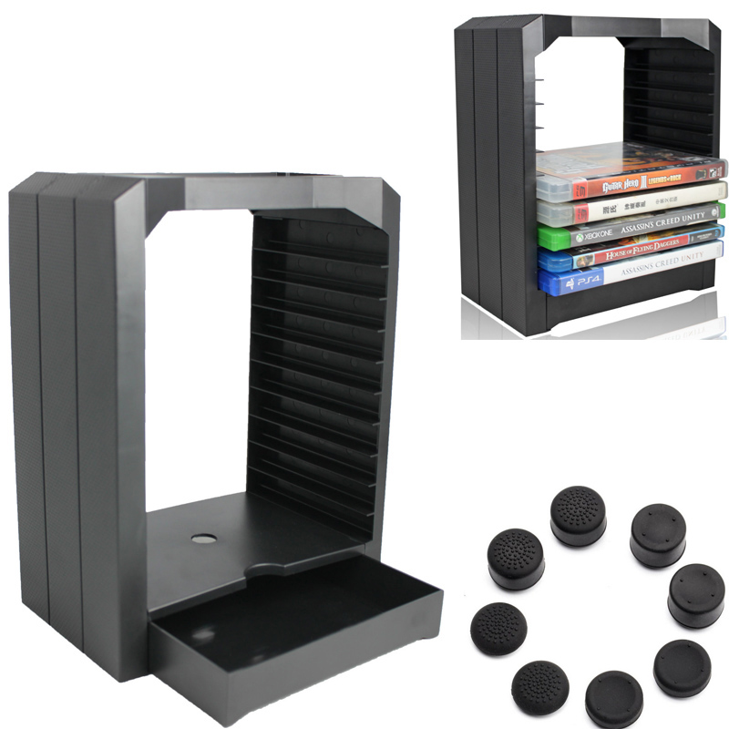 PS4 Storage Multifunctional Universal Games Disc Tower 10 games CD holder Store for Xbox One Playstation 4 PS4 Game Accessories