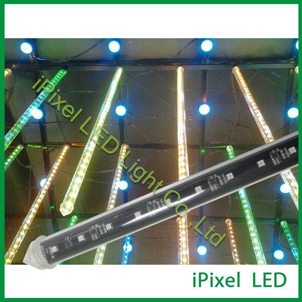 DMX signal 360 degree dc12v led meteor rain light dmx led rgb meteor tube light band switching signal converter a knife 12 files 360 degree turn