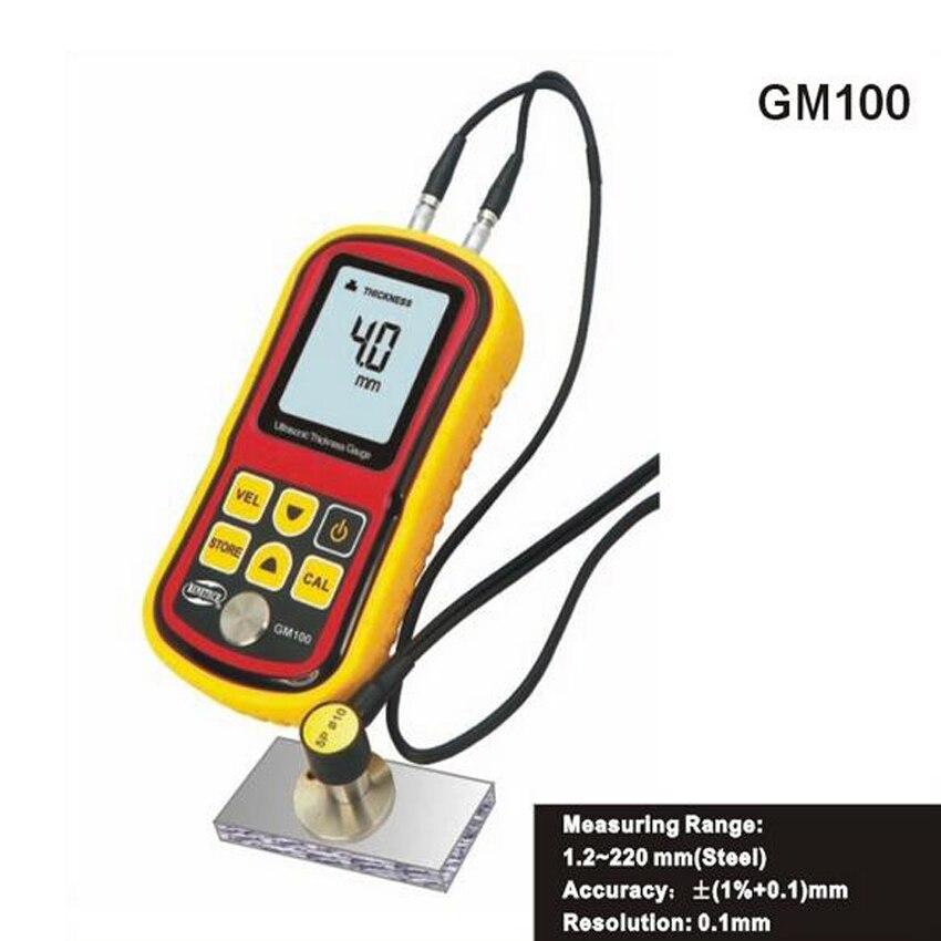 GM100 Ultrasuoni Spessore Gauge gamma Di Misurazione: 1.2 ~ 220mm (Acciaio) Digital Ultrasonic Thickness Tester del Tester del Calibro Velocity 1.2GM100 Ultrasuoni Spessore Gauge gamma Di Misurazione: 1.2 ~ 220mm (Acciaio) Digital Ultrasonic Thickness Tester del Tester del Calibro Velocity 1.2