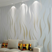 beibehang 3D stereo living room TV background wallpaper bedroom non woven wallpaper super thick relief Seaweed leaves