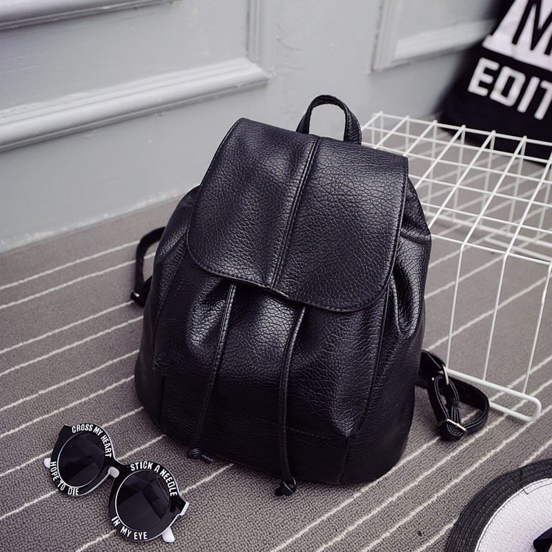 RU&BR Summer New College Wind Schoolbag Washed Leather Backpack Woman Boutique Backpacks Korean Tidal Fashion Leisure Travel Bag dermis women bag 2016 new leisure backpack camouflage personalized backpack korea institute of wind schoolbag