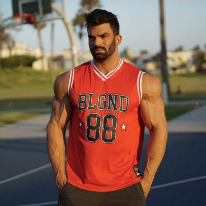 2019 Gyms Clothing Fitness Men   Tank     Top   with hooded Mens Bodybuilding Stringers   Tank     Tops   workout Singlet Sleeveless Shirt
