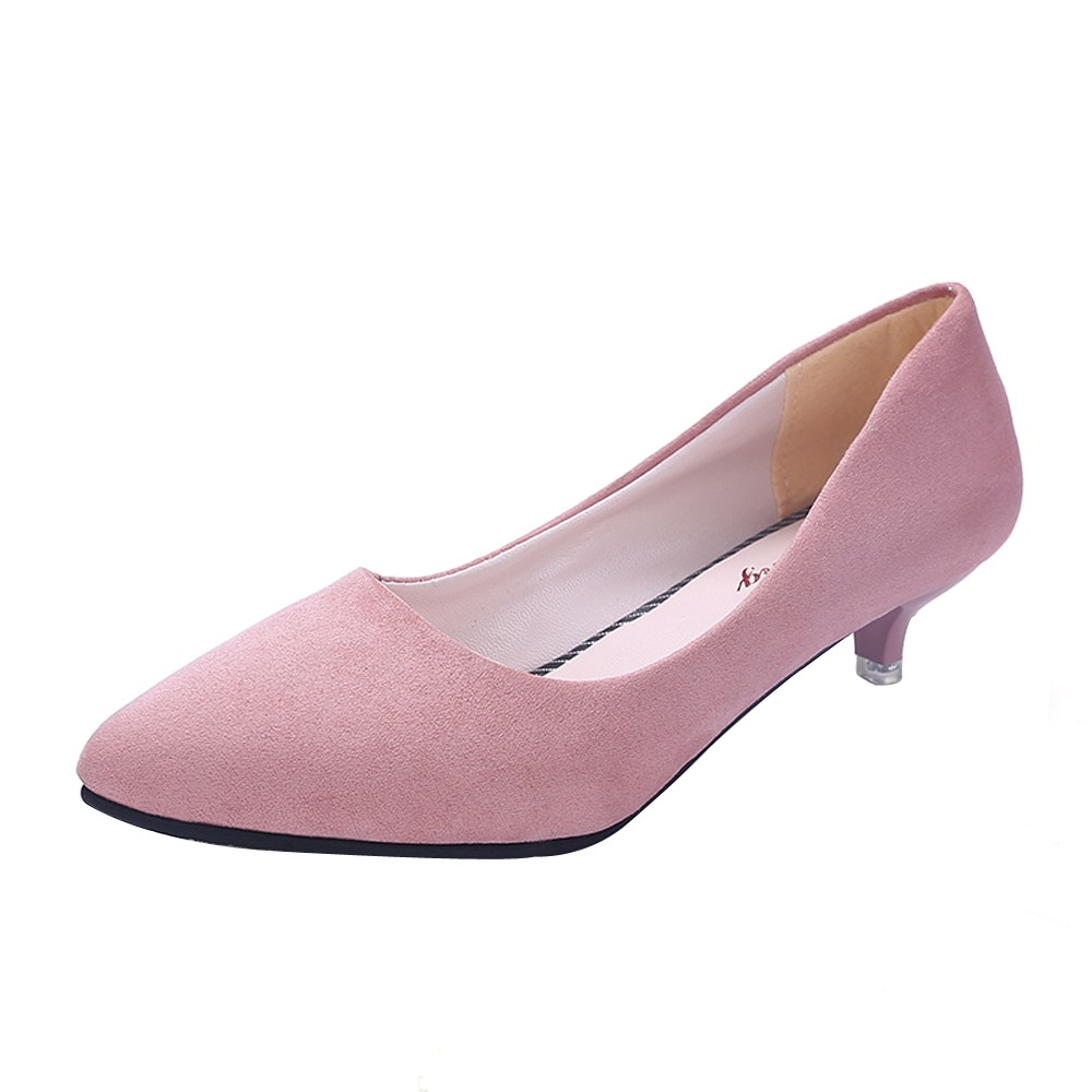 Female Pumps Nude Shallow Mouth Women Shoes Fashion Office
