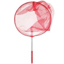 Stainless steel Section Extendable Handle Pole Folding Fishing Net Accessory Kids Child Toy Butterfly Net Insect Bug Garden Tool