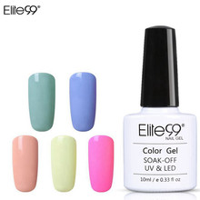 Elite99 Macaron Colors Nail Gel Polish Vernis Semi Permanent UV Gel 10ml Varnish Top Base Nail Art Manicure Gel Lacquer(China)