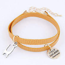 PU Leather Kitty Bracelet