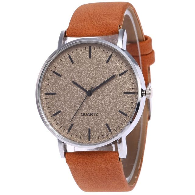 Fashion Unisex Montre Femme Reloj Mujer Leather Stainless Men's Watch Wholesale
