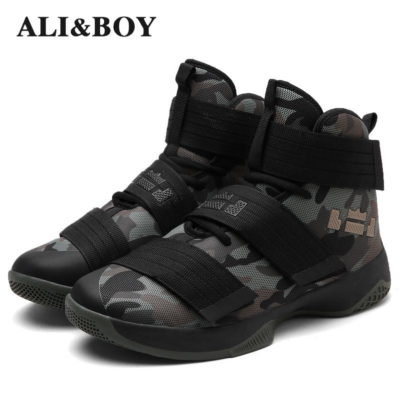 Aliboy Men Basketball Shoes Court Male Basketball Ankle Boots For Female Couple Anti-slip Court Sports Sneakers Size 36-45