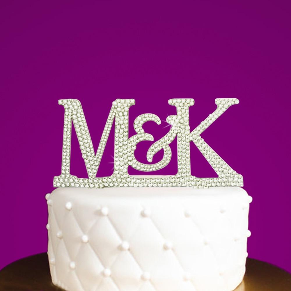 Brand New Rose Gold Diamante Birthday Cake Topper Pick with Rhinestone Gem