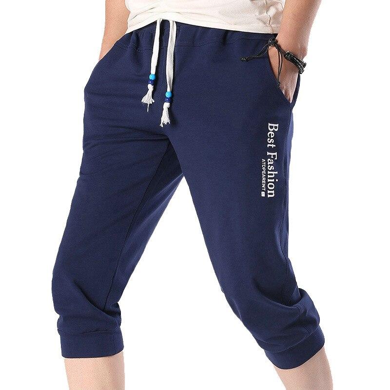Aktiv Streetwear Jogginghose Jogger Männer Baumwolle Casual Slim Fit Herren Jogger Hosen 2019 Sommer Ankle-länge Männer Hosen