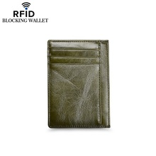 Anti-theft RFID leather retro men Card holder Coin purse Credit card set women's card holder purses цена и фото