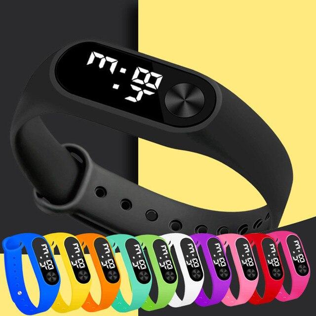 אופנה דיגיטלי LED ספורט שעון יוניסקס סיליקון להקת יד שעונים גברים נשים