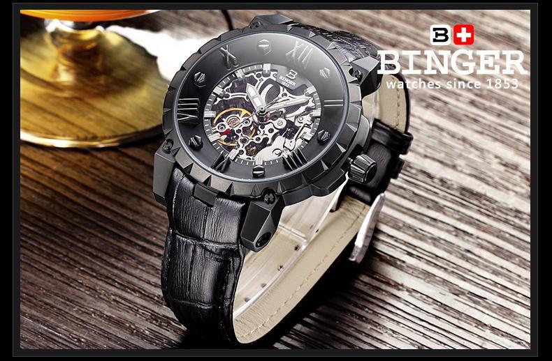 Švicarska BINGE satovi muškarci luksuzni brand mehanički ručni - Muški satovi - Foto 5