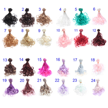 1PC Fashion Diy Wig High-temperature wire Curly Hair for 1/3, 1/4, 1/6 Doll as fit for BJD SD Puppet Tracks Doll Accessories doll accessories 1 3 1 4 bjd wig doll hair long curly wavy wig multicolour available high temperature wire wig wool fa15