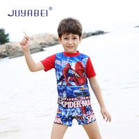 JUYABEI 2018 Chłopców Zestawy Spider-Man Drukuj Dzieci Fajne Lato Plażowe Szorty Swim Stroje Kąpielowe Małe Dzieci Strój Kąpielowy Kostium Kąpielowy