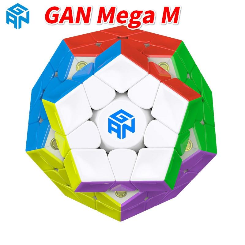 새로운 Gan 3x3x3 메가 M 매직 큐브 마그네틱 Wumofang Megaminxeds 속도 전문 12면 퍼즐 Cubo Magico Dodecahedron-에서매직 큐브부터 완구 & 취미 의  그룹 1
