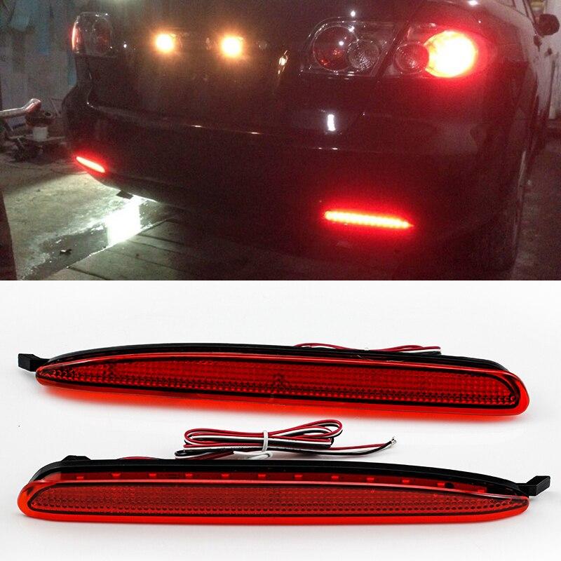 Для Mazda 6 2003-08 модели Mazda6 красный белый копченая объектив LED задний бампер отражатель хвост тормоз стоп-сигнал Атенза