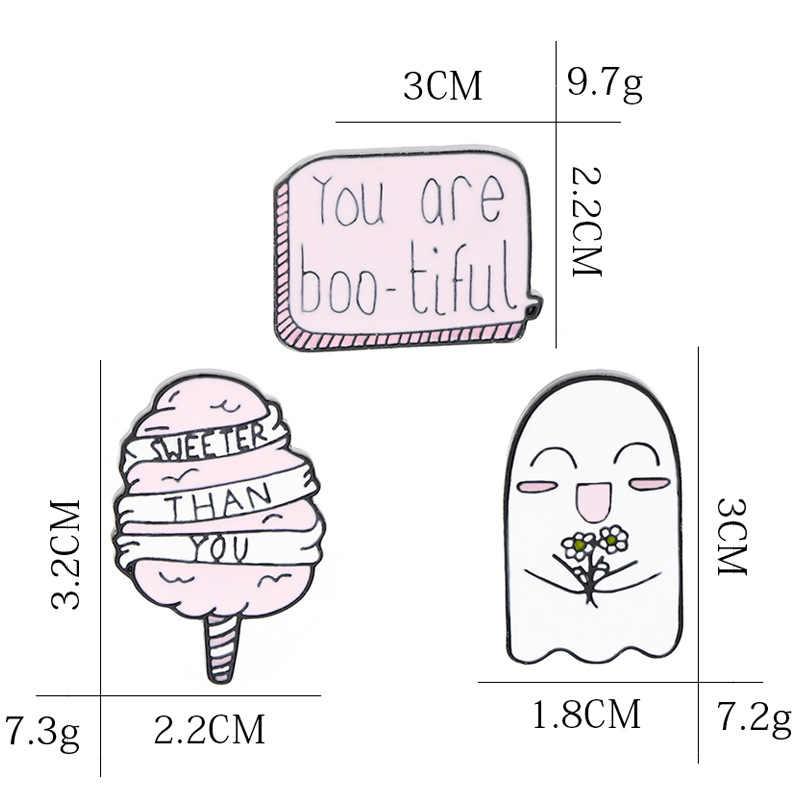 Mannen en vrouwen Japanse cartoon broche ghost ijs u Bootiful badge goede vriend gift broche groothandel