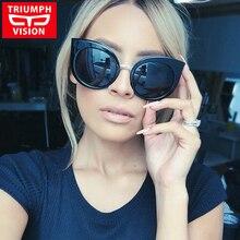Hot Sale Occident Cat Eye Sunglasses Female Women Brand Designer Sun Glasses For Women New Style Oculos Gradient lunette