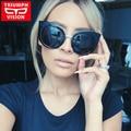 Venda quente do Ocidente Do Olho de Gato Óculos De Sol Feminino Mulheres Marca Designer Óculos de Sol Para As Mulheres New 2016 Estilo Gradiente Oculos lunette