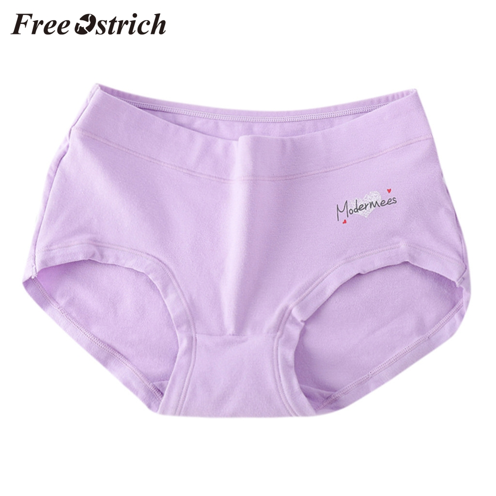Free Ostrich L Xl Comfortable Simple Casual Women Plus Size Soft Sexy Brief Lingerie No Trace Thread Soild Underwear Panties