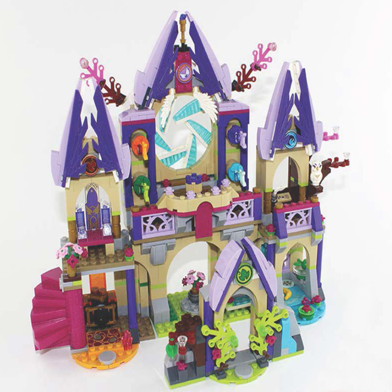 mylb Building Block Compatible Legoes Elves Skyra's Mysterious Sky Castle Model Brick Educational Toys For Children dropshipping decool 3114 city creator 3in1 vehicle transporter building block 264pcs diy educational toys for children compatible legoe