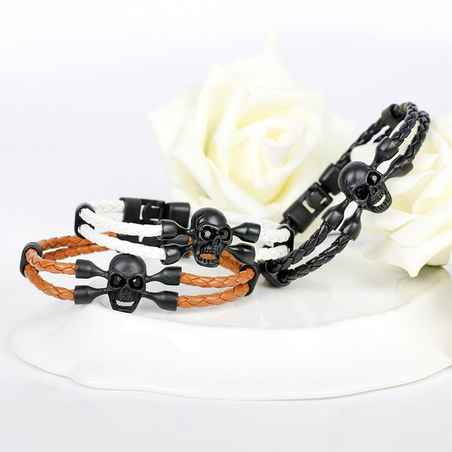 Skull Bracelets – High Quality Leather Bracelets