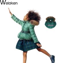 Fashion Girl Winter Down Jackets Coats Warm Baby Girl Thick Duck Down Kids Jacket Fur Collar Children Outerwears for Cold Winter