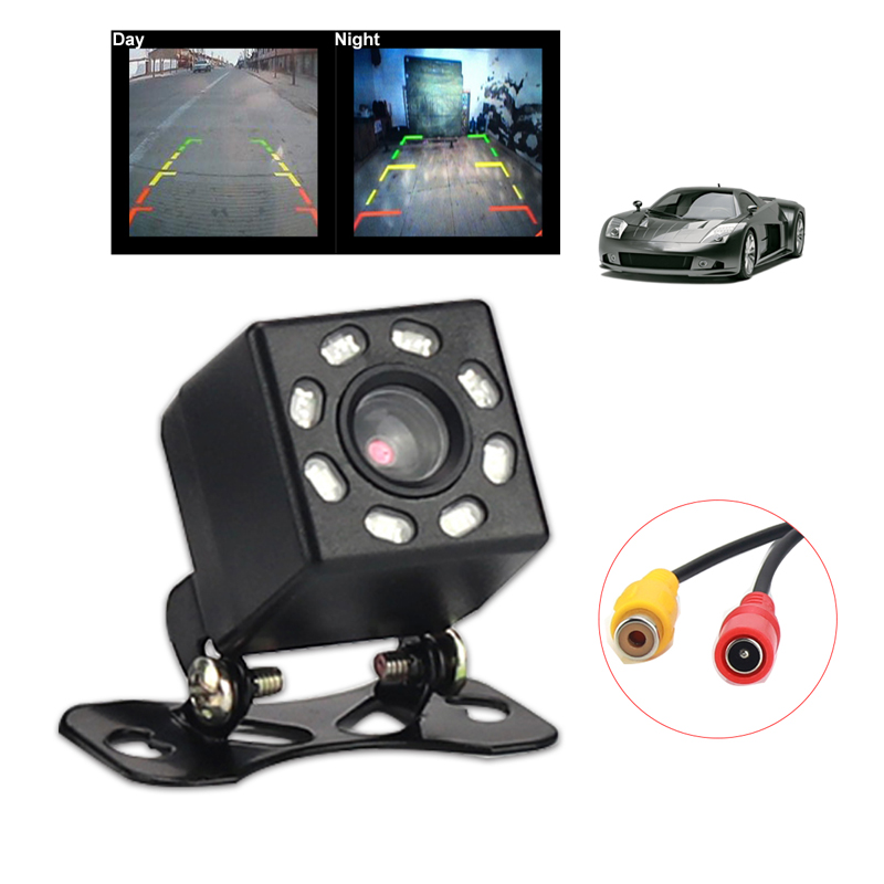 Automobile Car Camera 8LED Rear View reversing Camera English Packaging Auto Parts Auto Accessories High Definition