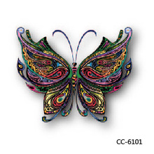 6X6cm Little Cheapest Colorful 3D Butterfly HD Temporary Tattoo Sticker Body Art Water Transfer Fake Taty For Face Sleeves
