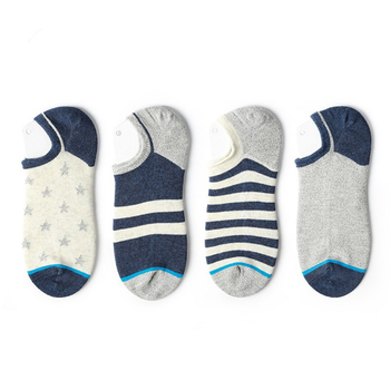Mens summer cotton original tide socks Harajuku Japanese striped stars pattern low to help shallow mouth leisure boat