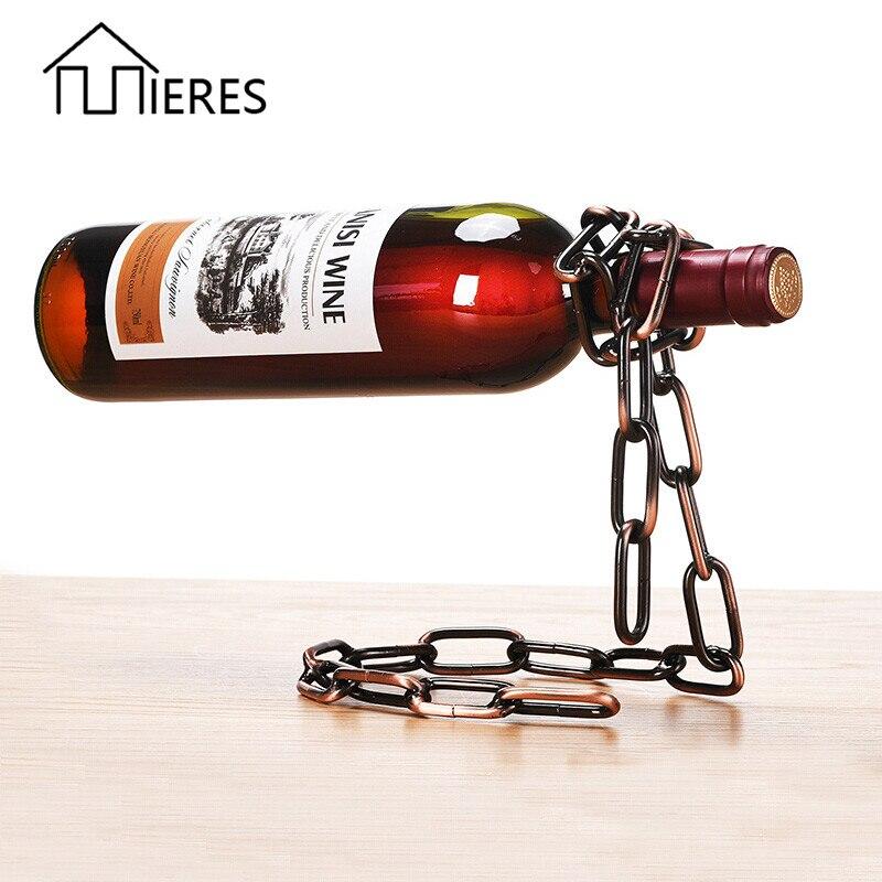 Mieres creativo suspensión cadena vino europeo Retro restaurante Bar Ktv de vino decoración adornos