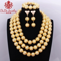 2017 Gold Layered Necklace Ethnic Antique Jewelry Set Brand Supplies Store Nigerian African Wedding Beads Dubai Jewelry Sets