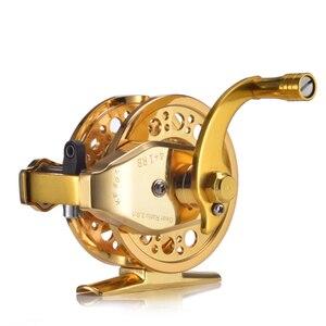 Image 5 - YUYU moulinet de pêche à la mouche entièrement en métal, avec frein automatique, moulinet de poisson sur glace en alliage daluminium, ratio dengrenage de 3.0:1 4 + 1BB
