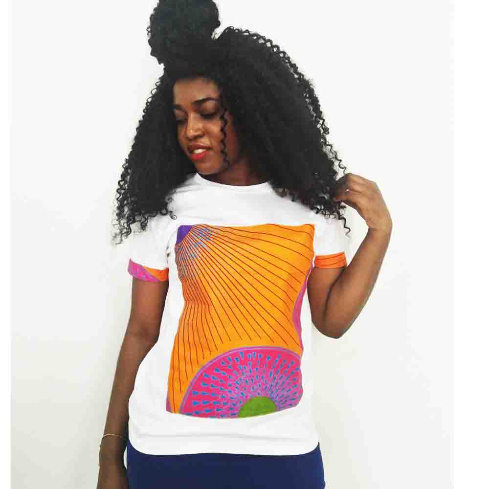 Shenbolen African Clothes For Women New Fashion Tops Summer Hot Selling Cotton Print batik Wax Short Sleeve Top Shirt