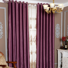 Custom Made Brand Shading Cotton Luxury Flocked Cotton Linen Blackout Curtain for Living Room Bedroom Window Curtains 20 colors