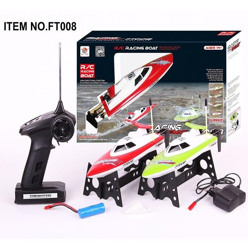 14 km/h haute vitesse radiocommande électronique RC bateau FT008 27 MHZ télécommande jouets meilleur cadeau de noël RC bateaux modèle