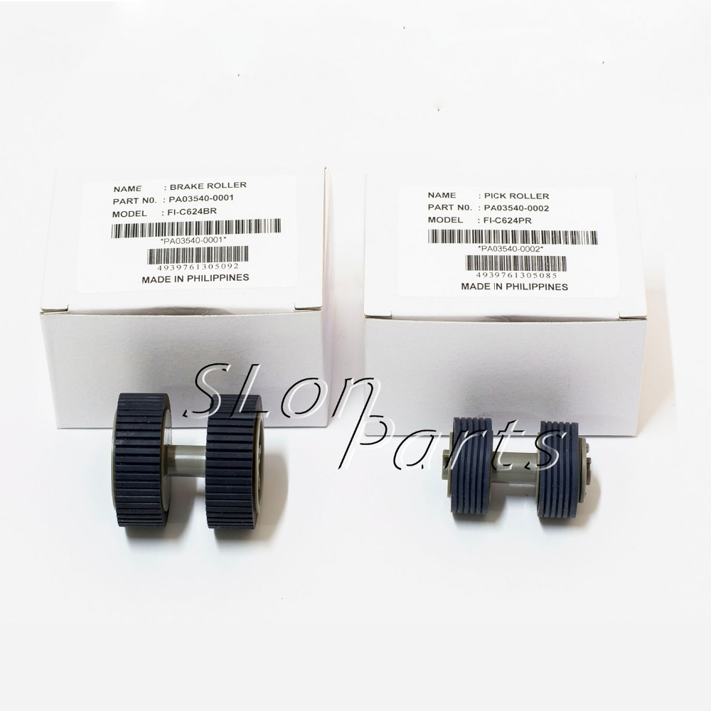 PA03540-0001 PA03540-0002 for Fujitsu 6130 Fi-6130 Fi-6130Z Fi-6230 Fi-6140 Fi-6125 Fi-6225 IX500 Brake and Pick Up Roller