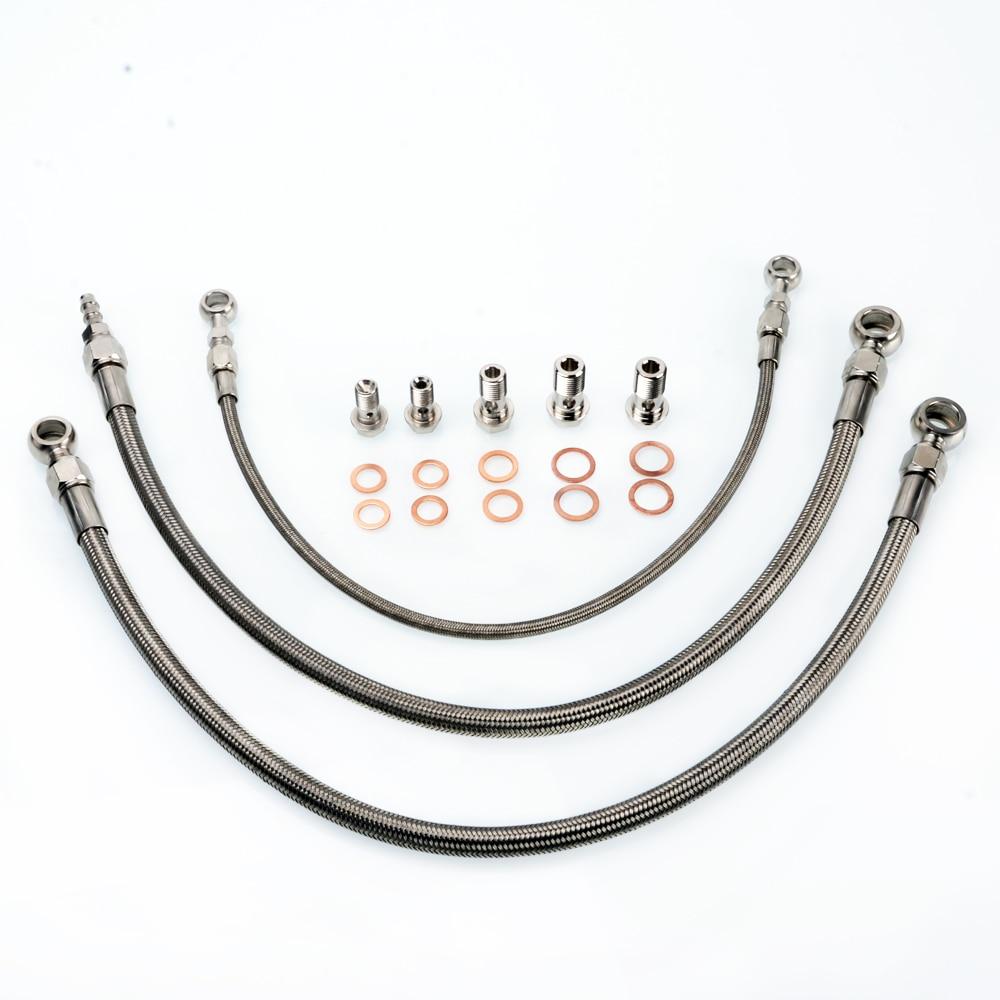 Kit de ligne d'installation de Turbo Kinugawa M16 6AN pour Nissan horizon RB20DET Stock T3 Turbo