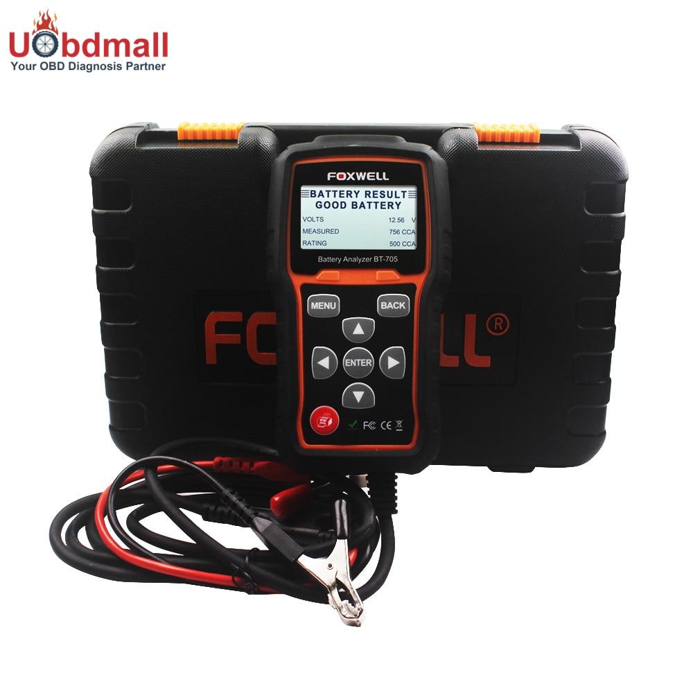 Prix pour FOXWELL BT705 12 V Batterie De Voiture Analyseur et le 24 V Heavy Duty Camion Batterie Testeur Vérifier Batterie Santé avec Bluetooth imprimante