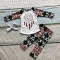 2016 Осень/Зима новорожденных девочек dreamcatch хлопок полный длинным рукавом одежда наряды бутики ацтеков брюки одежда соответствия лук